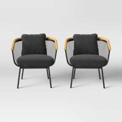 Bangor 2pk Patio Club Chair - Black - Project 62™