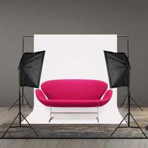 UBesGoo New 5x10ft Screen 100% Non-woven Fabric Backdrop Photo Photography Background White