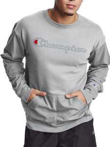 Champion Men's Hybrid Woven Crewneck Sweatshirt, up to Size 2XL