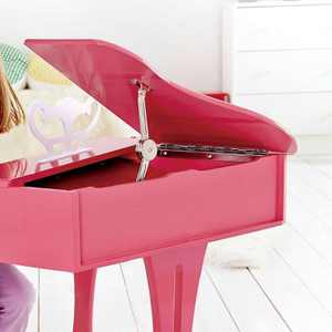 Hape Toys Early Melodies Pink Wooden Happy Grand Piano for Toddlers & Children