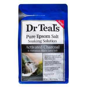 Dr Teal's Charcoal Salt Soaking Solution - 48oz