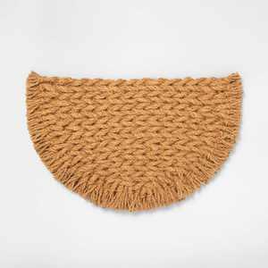 Half Circle Braided Coir Doormat - Hearth & Hand™ with Magnolia