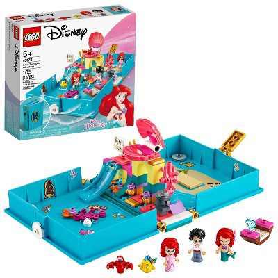 LEGO Disney Ariel's Storybook Adventures Princess Mermaid Building Playset 43176