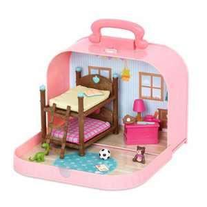 Li'l Woodzeez Bunk Bed Playset in Suitcase
