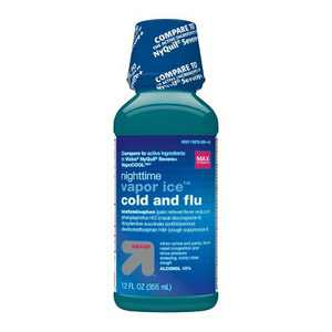 Acetaminophen Nighttime Vapour Ice Cold and Flu Relief Liquid - 12 fl oz - up & up™