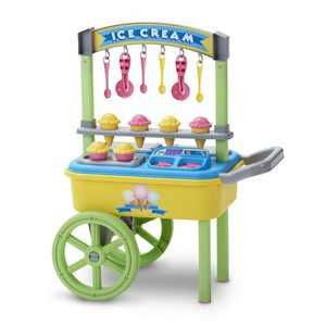 American Plastic Toys Kids My Very Own First Ice Cream Cart Stand Role Play Set