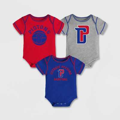 NBA Detroit Pistons Baby Boys' Rookie Bodysuit Set 3pk