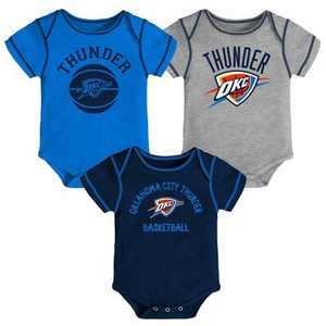 NBA Oklahoma City Thunder Baby Boys' Rookie Bodysuit Set 3pk