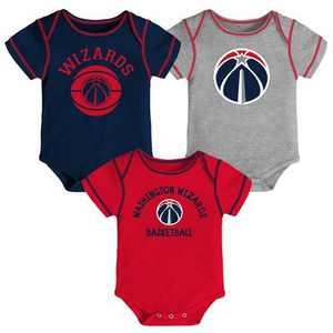 NBA Washington Wizards Baby Boys' Rookie Bodysuit Set 3pk