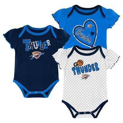 NBA Oklahoma City Thunder Girls' Draft Pick Body Suit Set 3pk