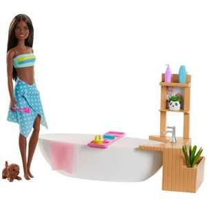 Barbie Fizzy Bath Brunette Doll and Playset