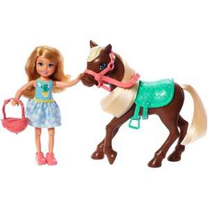 Barbie Club Chelsea Doll and Brown Pony