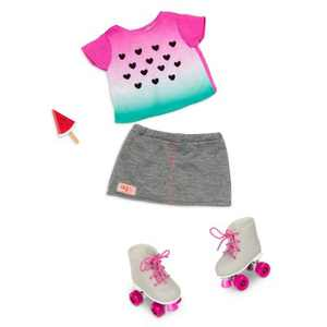 """Our Generation One in a Melon with Roller Blades Fashion Outfit for 18"""" Dolls"""