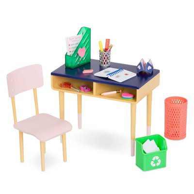 """Our Generation Brilliant Bureau Home Desk Accessory Set for 18"""" Dolls"""