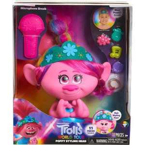 Trolls World Tour Poppy Styling Head