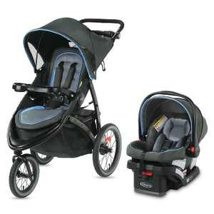Graco FastAction Jogger LX Travel System with SnugRide Infant Car Seat - Cielo