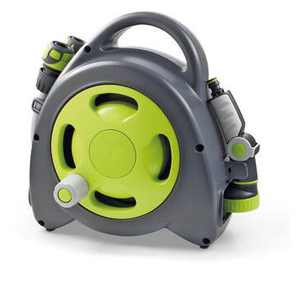GF Garden Aquabag Maxi Portable Hose and Reel - Max. 58 psi, 54 ft. Retractable Hose Line - Lime - G.F. Garden