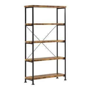 Coaster Furniture Barritt Collection 5 Shelf Bookcase Shelf, Antique Nutmeg