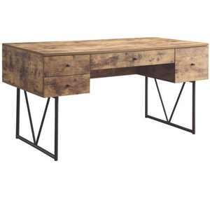 Coaster Home Furniture Barritt 4 Drawer Home Office Writing Desk, Antique Nutmeg