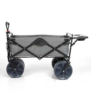 Mac Sports Collapsible Heavy Duty All Terrain Utility Wagon w/ Table, Gray