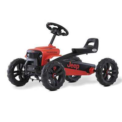 BERG Toys Jeep Buzzy Rubicon Pedal Powered Kids Safe Go Kart, Red