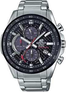 Casio EQS-900DB-1AVCR Edifice Men's Solar-Powered Chronograph Stainless Steel Watch