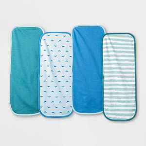 Baby Boys' 4pk Sleepy Tides Burp Cloth Set - Cloud Island™ Blue