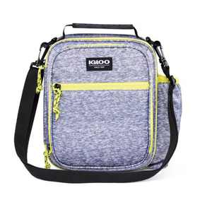 Igloo Active Vertical Lunch Tote - Heather Gray/Volt Yellow