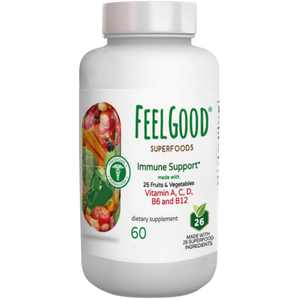 FeelGood Superfoods 1000mg Immune Support Capsules, 60 Count