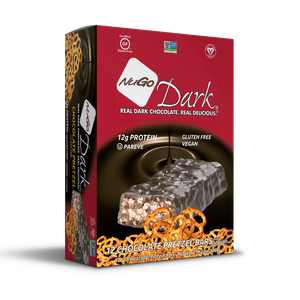 NuGo Dark Protein Bar, Chocolate Pretzel, 12g Protein, 12 ct