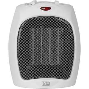 BLACK+DECKER Personal Desktop Ceramic 1500W Heater, Indoor, White