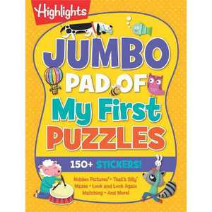 Jumbo Pad of My First Puzzles - (Highlights(tm) Jumbo Books & Pads) (Paperback)