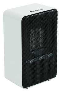 Comfort Zone 250-Watt Personal Ceramic Fan-Forced Desktop Heater, White