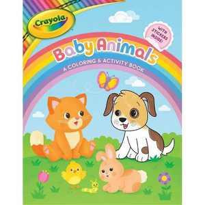 Crayola Baby Animals: A Coloring & Activity Book - (Crayola/Buzzpop) (Paperback)