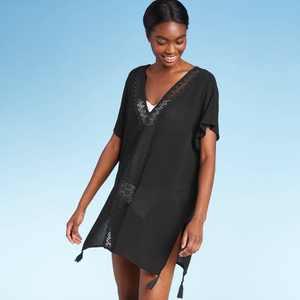 Women's Crochet Insert Cover Up Dress - Kona Sol