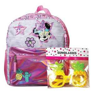 """Disney Minnie Mouse 12"""" Kids' Backpack with Sunglasses"""