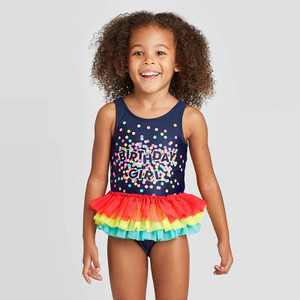 Toddler Girls' Bow Back Flutter Tutu One Piece Swimsuit - Cat & Jack Navy