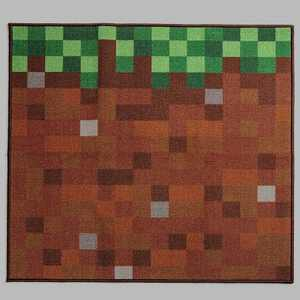 "Minecraft 39""x39"" Glass Blocks Rug Green"