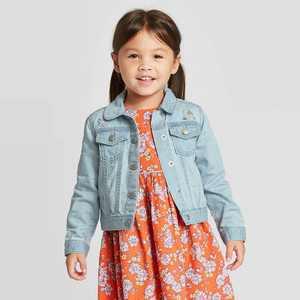 OshKosh B'gosh Toddler Girls' Embroidered Jean Jacket - Blue