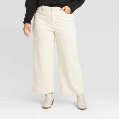 Women's High-Rise Wide Leg Cropped Jeans - Universal Thread