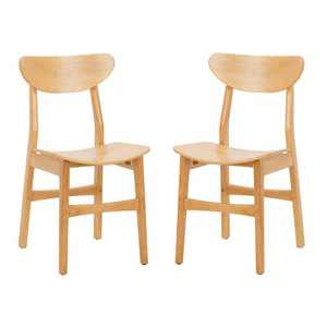 Set of 2 Lucca Retro Dining Chair Natural - Safavieh