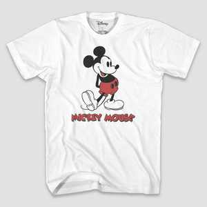 Men's Disney Mickey Mouse Short Sleeve Graphic T-Shirt - White