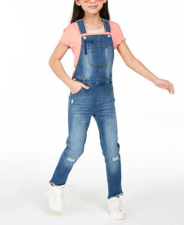 Girls 7-16 Denim Overalls, Created for Macy's