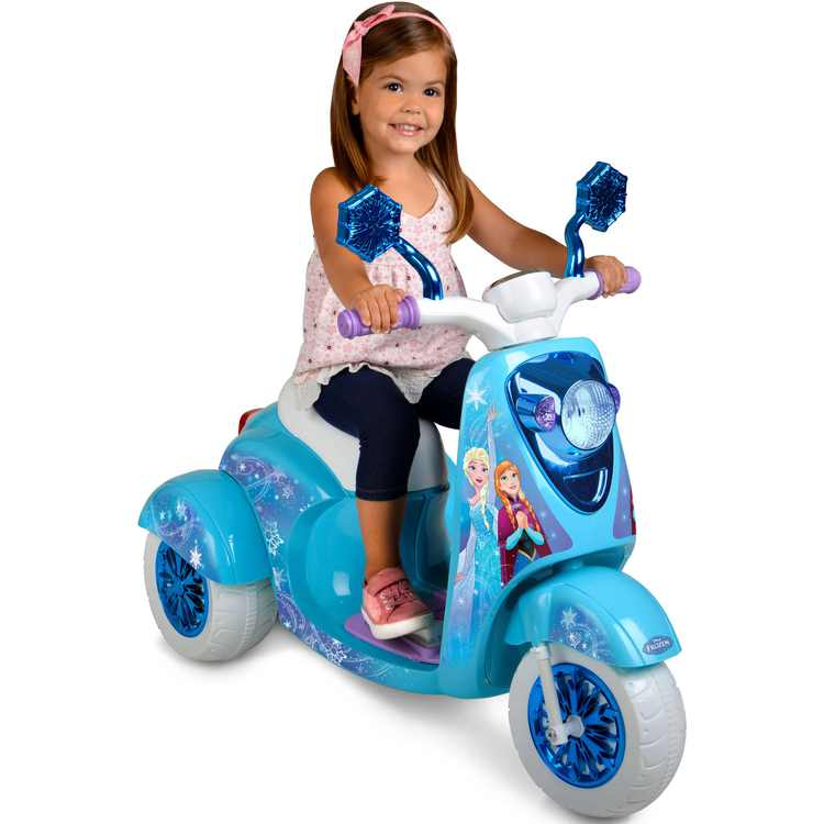 6 Volt Disney Frozen 3-Wheel Scooter Battery Powered Ride-On
