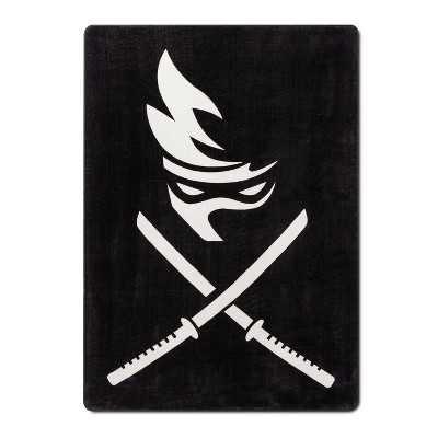 Team Ninja Twin Stripe Blanket Black