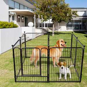 """Dog Playpen 8 Panels 54""""W X 40""""H for Inside Heavy Duty Pet Pen Large Puppy Fence with Door Puppy Play Yard"""