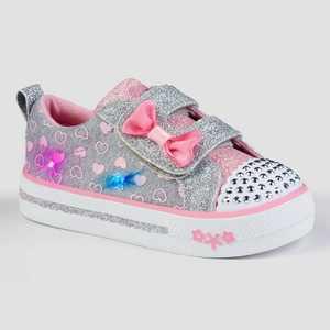 Toddler Girls' S Sport By Skechers Emmeline Light-Up Sneakers - Gray