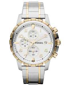 Men's Chronograph Dean Two-Tone Stainless Steel Bracelet Watch 45mm FS4795