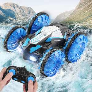 Amphibious RC Car for Kids 2.4 GHz Remote Control Boat Waterproof RC Truck Stunt Car 4WD Remote Control Off-road Vehicle Girls Boys