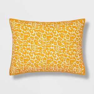 Standard Leopard Medallion Stitch Sham Saffron - Opalhouse™